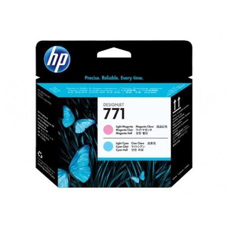هد پلاتر قرمز روشن آبی روشن اچ پی مدل HP 771 Light Magenta Light Cyan DesignJet Printhead CE019A