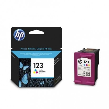 کارتریج جوهرافشان رنگی اچ پی HP 123 Tri Color Ink Cartridge F6V16AE