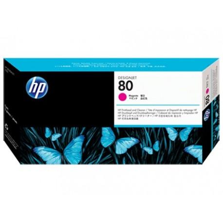 هد پلاتر قرمز اچ پی مدل HP 80 Magenta DesignJet Printhead and Printhead Cleaner C4822A