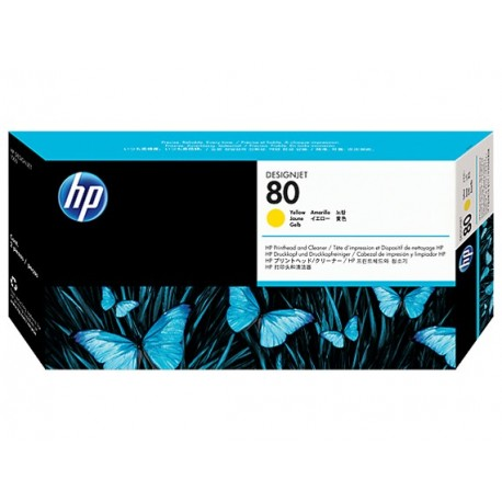 هد پلاتر زرد اچ پی مدل HP 80 Yellow DesignJet Printhead And Printhead Cleaner C4823A