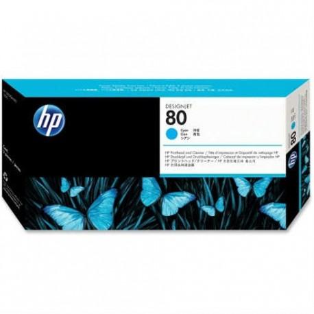 هد پلاتر آبی اچ پی مدل HP 80 Cyan DesignJet Printhead And Printhead Cleaner C4821A