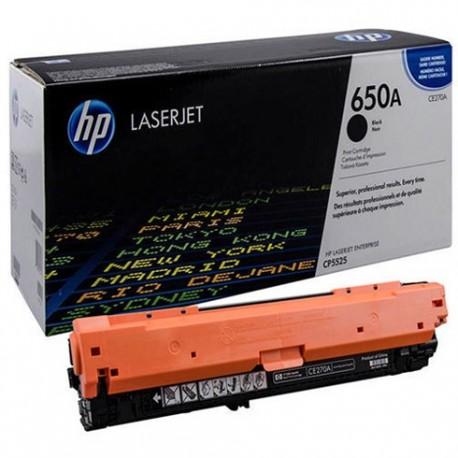 تونر کارتریج لیزری رنگی اچ پی مشکی HP 650A Black LaserJet Toner Cartridge CE270A