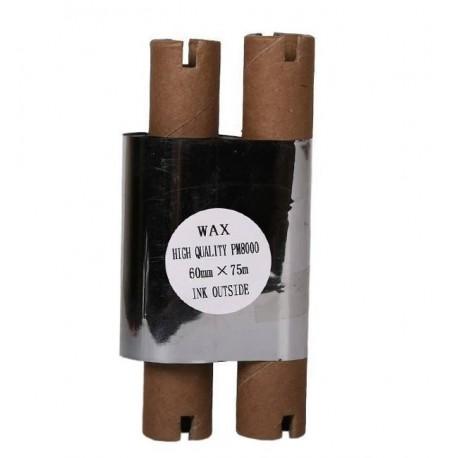 ریبون لیبل پرینتر وکس Wax Ribbon 60x75