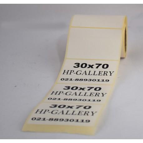 برچسب کاغذی تک ردیفه پرینتر لیبل زن Paper Label 30x70
