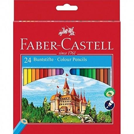 مداد رنگی 24 تایی فابر کاستل faber castell