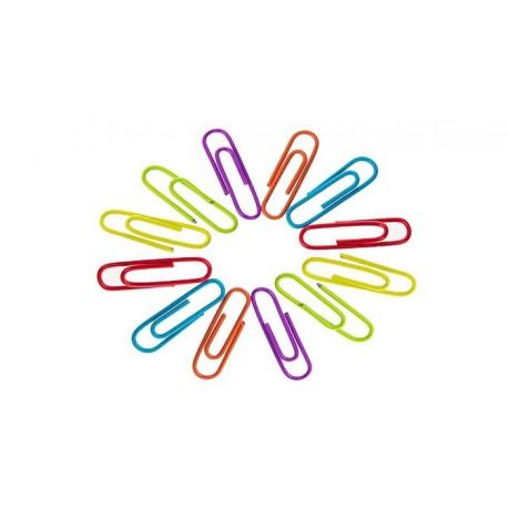 کلیپس و گیره کاغذ رنگی سایز 28 تا 33 میلیمتر بسته 100 عددی