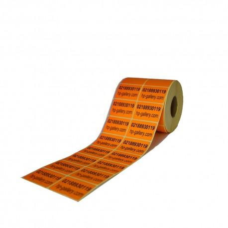 برچسب پی وی سی دو ردیفه پرینتر لیبل زن PVC Label 35x50